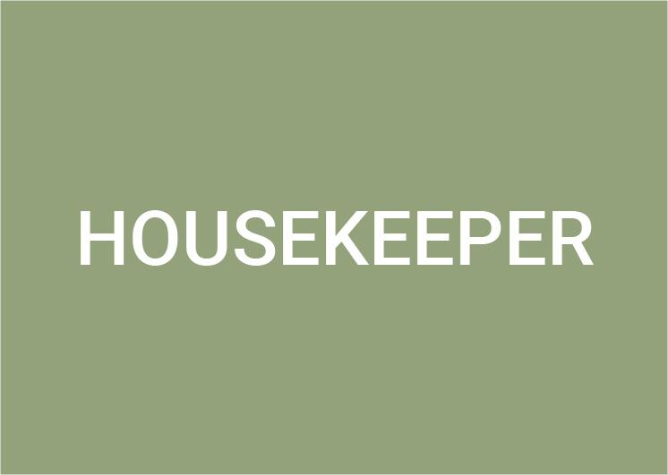 Housekeeper (m/f/d) 80-100%