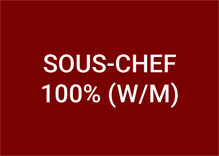 Sous Chef (m/w/d) 100%
