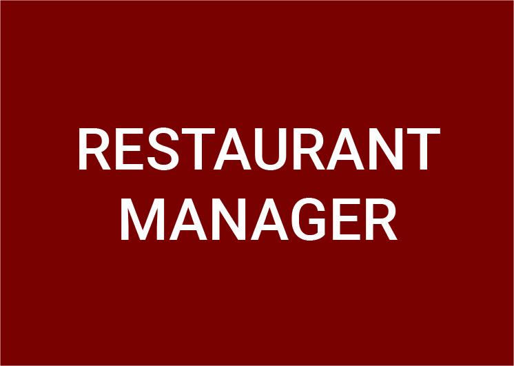 Restaurant Manager (m/w/d) 100%