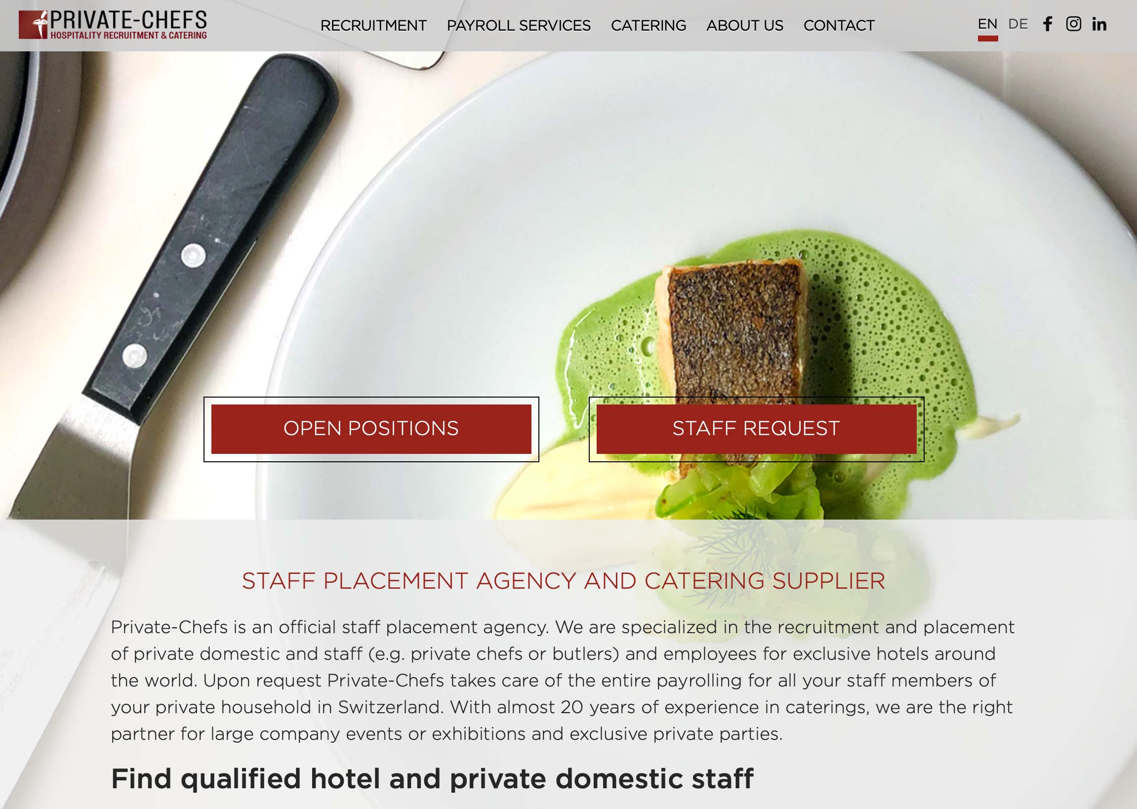 A new optimised website, for a better service